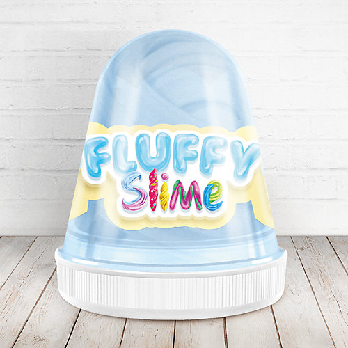 Слайм Monster Slime Fluffy Ваниль светло-голубой, 120 мл от KiKi