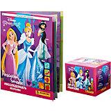 Альбом Panini Принцессы Disney Рождена и бокс с наклейками, 36 пакетиков в боксе
