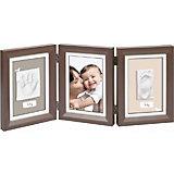 """Рамка Baby Art """"Для слепка и фотографии: классика"""", тройная, коричневая"""