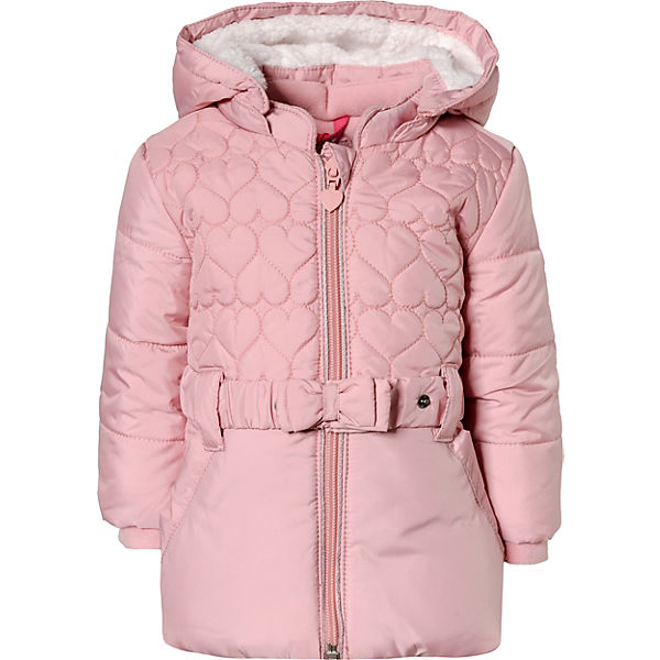 schön Design billiger vorbestellen Baby Wintermantel mit Gürtel + abnehmbarer Kapuze für Mädchen, s.Oliver