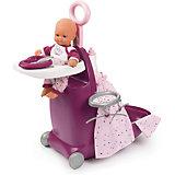 Набор для кормления и купания пупса в чемодане Smoby Baby Nurse