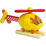 """Магнитный конструктор Janod """"Вертолет"""", 5 деталей, желтый"""