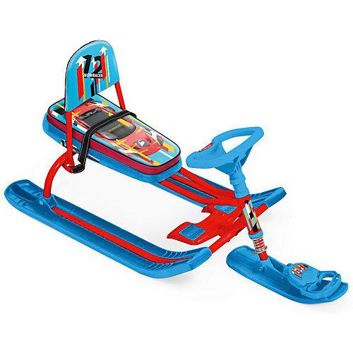 """Снегокат Nika """"Тимка спорт 4-1"""" Kids sportcar, красный каркас от Nika-Kids"""