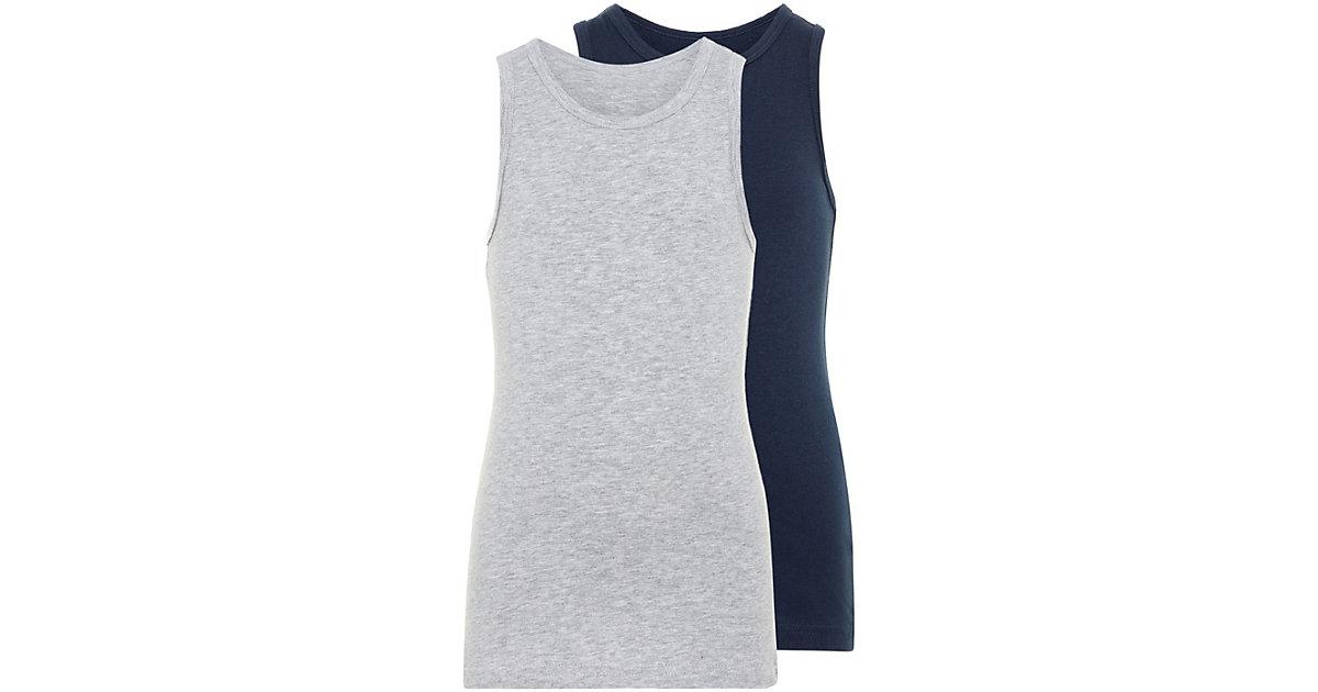 Unterhemd NMMTANK Doppelpack , Organic Cotton grau Gr. 86 Jungen Kleinkinder