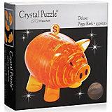 3D головоломка Crystal Puzzle Копилка свинья золотая