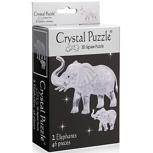 3D головоломка Crystal Puzzle Два слона от Crystal Puzzle
