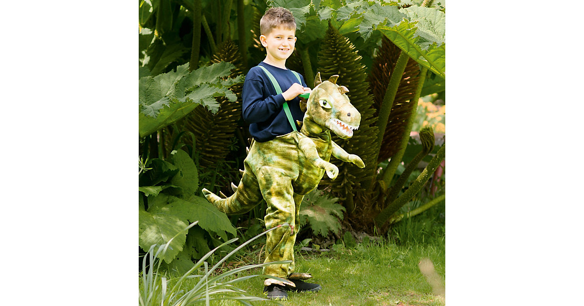 Kostüm Dinosaurier-Ritt, 1-tlg. grün Gr. 98/110 Jungen Kleinkinder