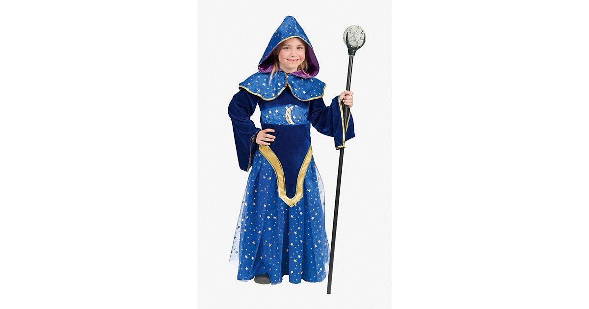 Kostüm Magierin dunkelblau Gr. 164 Mädchen Kinder