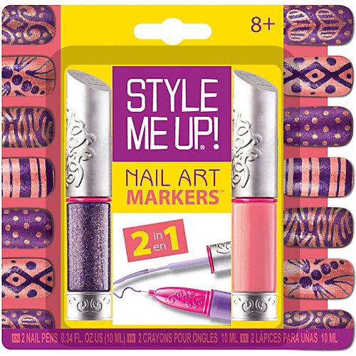 Набор для маникюра 2-в-1 Style Me Up, оранжевый/фиолетово-серебристый от Style Me Up