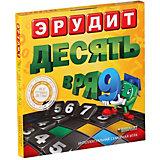 """Настольная игра Биплант Эрудит """"Десять в ряд"""""""