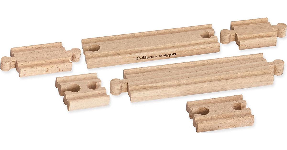 Holz-Ausgleichsschienen-Set, 6 tlg. mehrfarbig