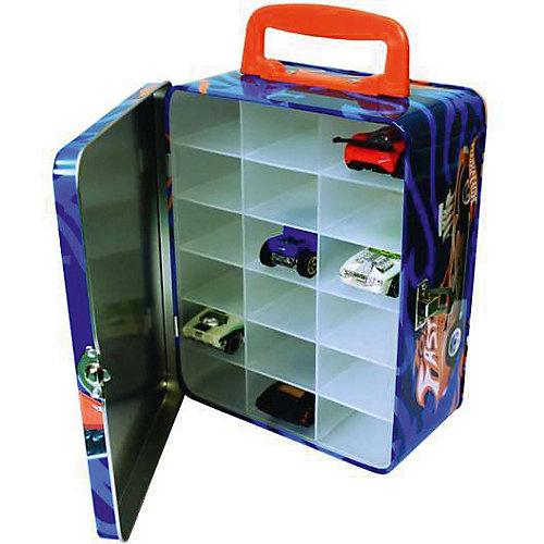 Портативный кейс для хранения Hot Wheels, голубой