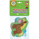 """Мягкие магнитные Vladi Toys Baby puzzle """"Лошадка и поросенок"""""""