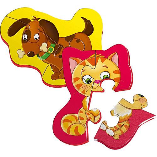 """Мягкие магнитные Vladi Toys Baby puzzle """"Котенок и щенок"""""""