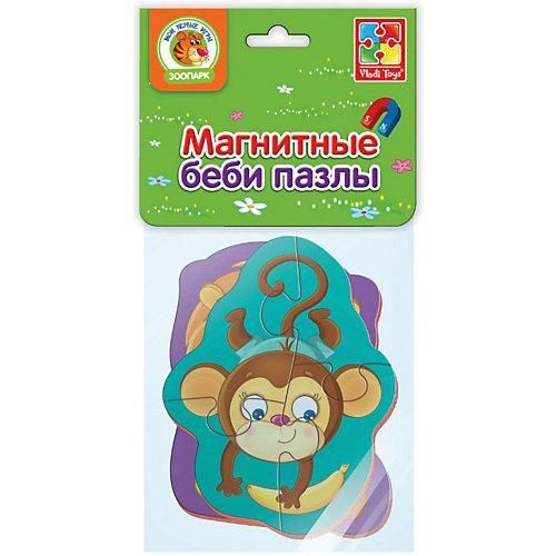 """Мягкие магнитные Vladi Toys Baby puzzle """"Львенок и обезьянка"""""""