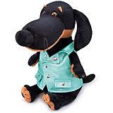 Мягкая игрушка Budi Basa Собака Ваксон в зеленой рокерской жилетке, 29 см