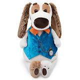 Мягкая игрушка Budi Basa Собака Бартоломей в жилете с часами, 33 см