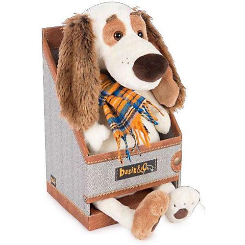 Мягкая игрушка Budi Basa Собака Бартоломей в голубой рокерской жилетке, 27 см от Budi Basa