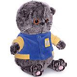 Мягкая игрушка Budi Basa Кот Басик Baby в синей куртке с желтой отделкой, 20 см