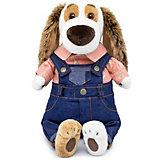Мягкая игрушка Budi Basa Собака Бартоломей в джинсовом комбинезоне, 27 см