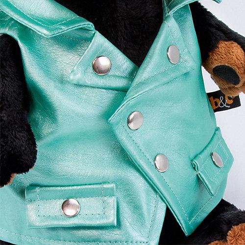 Мягкая игрушка Budi Basa Собака Ваксон в зеленой рокерской жилетке, 25 см от Budi Basa