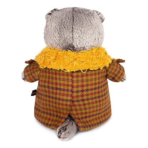 Мягкая игрушка Budi Basa Кот Басик в пальто с желтым меховым воротником, 22 см от Budi Basa