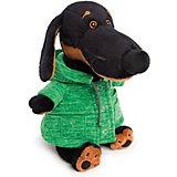 "Мягкая игрушка Budi Basa Собака Ваксон в зеленой куртке ""B&Co"", 29 см"