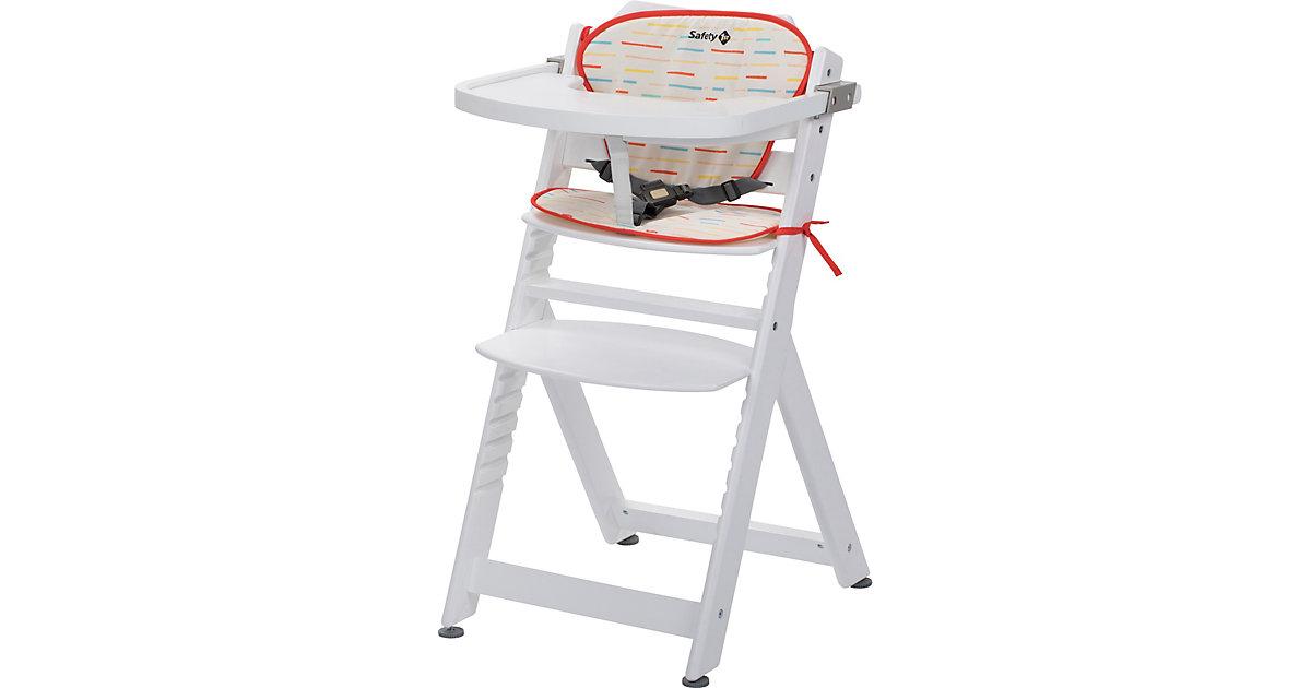 Hochstuhl Timba inkl. Sitzkissen, White/ Red Lines rot/weiß   Kinderzimmer > Kinderzimmerstühle > Hochstühle   Safety 1st