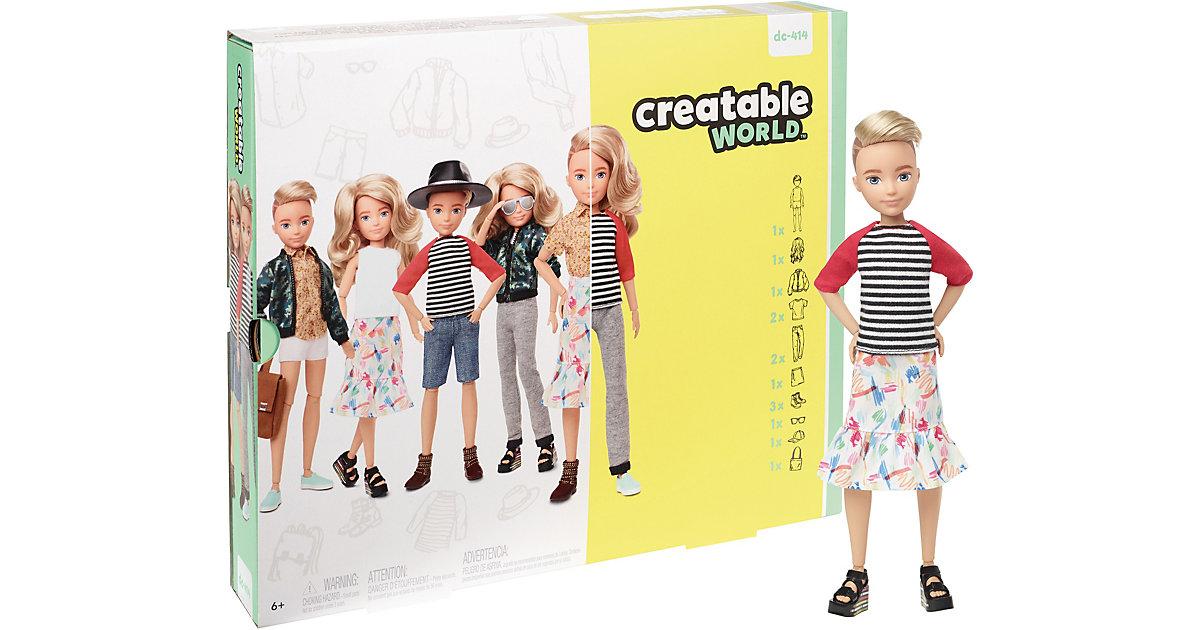 Creatable World Deluxe Set, gestaltbare Puppe mit blonden, welligen Haaren gelb
