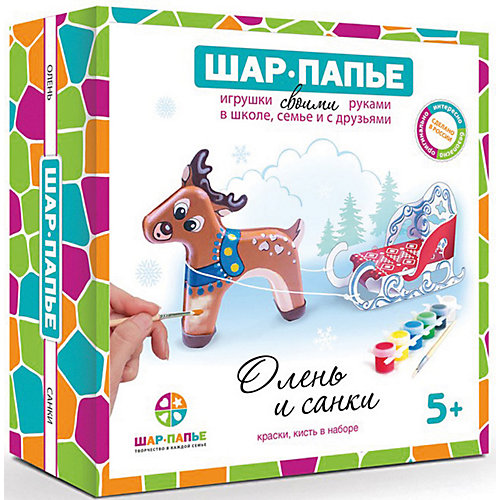 """Набор Шар Папье """"Олень и санки"""""""