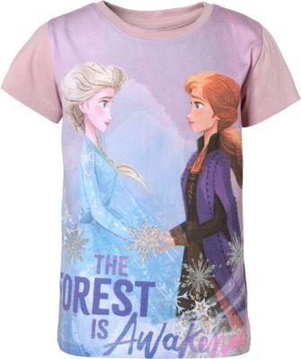 T Shirt Disney Die Eiskönigin Frozen Anna Elsa Glitzer Gr 104 116 128 140