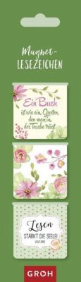Magnetlesezeichen:  Ein Buch ist wie ein Garten, den man in der Tasche trägt