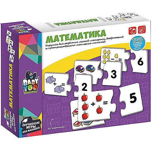 "Обучающие карточки-пазлы Bondibon ""Математика"" от Bondibon"