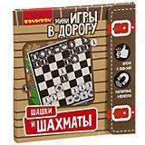 """Развивающая дорожная игра Bondibon """"Шашки и шахматы"""""""