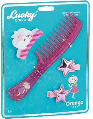Набор аксессуаров для волос Orange Lucky Doggy Расчёска с Мальтезе