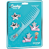 Набор аксессуаров для волос Orange Lucky Doggy Расчёска с Пуделем