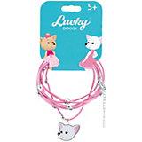 Кожаный браслет Orange Lucky Doggy, с Чихуахуа