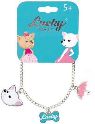 Браслет-цепочка Orange Lucky Doggy, с Чихуахуа