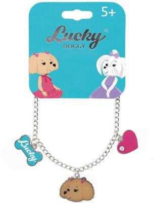 Браслет-цепочка Orange Lucky Doggy, с Пуделем