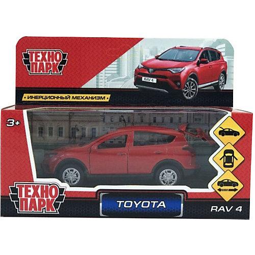 Коллекционная машинка Технопарк Toyota Rav 4, 12 см, красная от ТЕХНОПАРК