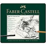 Набор угля и угольных карандашей Faber-Castell Pitt Charcoal, 24 предмета