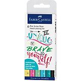 Набор капиллярных ручек Faber-Castell Pitt Artist Pen Lettering, 6 шт