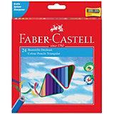 Карандаши цветные Faber-Castell 24 цвета, с точилкой