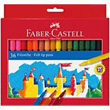 Фломастеры Faber-Castell, 36 цветов, смываемые