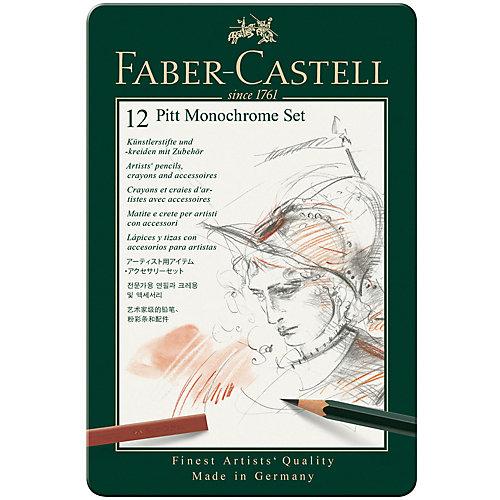 Набор художественных изделий Faber-Castell Pitt Monochrome, 12 предметов от Faber-Castell