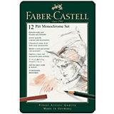 Набор художественных изделий Faber-Castell Pitt Monochrome, 12 предметов