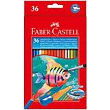 Карандаши акварельные Faber-Castell, 36 цветов + кисть