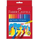 Фломастеры Faber-Castell, 24 цвета, смываемые