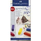 Пастель Faber-Castell Soft pastels, 24 цвета, мини