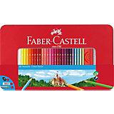 Карандаши цветные Faber-Castell, 60 цветов + 2 чернографитных, ластик, точилка